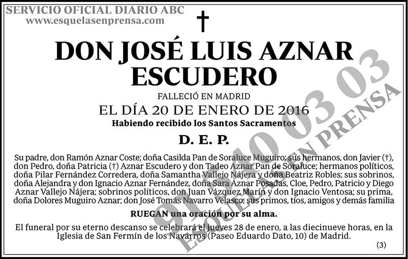 José Luis Aznar Escudero